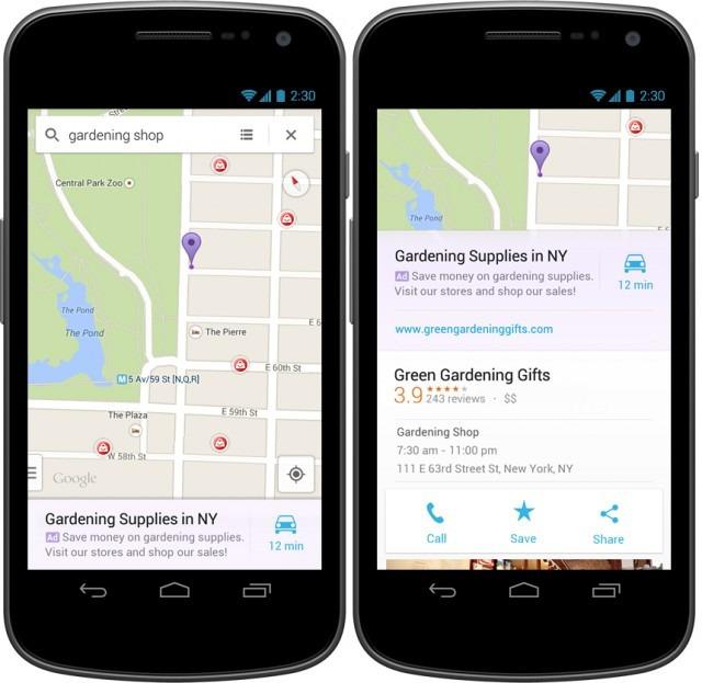 Google Maps广告