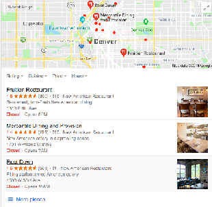 Local SEO Map Results