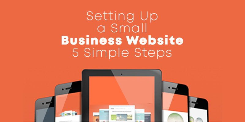 setting up a small business website